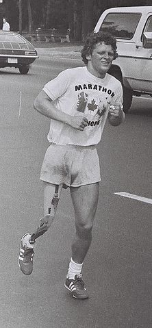 """""""TerryFoxToronto 1980/07/12"""" by Jeremy Gilbert - Transferred from en.wikipedia. Licensed under Public Domain via Commons."""